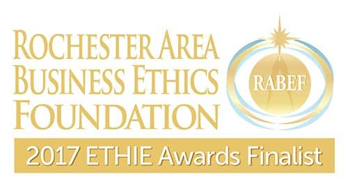 Broccolo Tree and Lawn Care chosen as a finalist for the ETHIE awards for their environmental practices in Rochester
