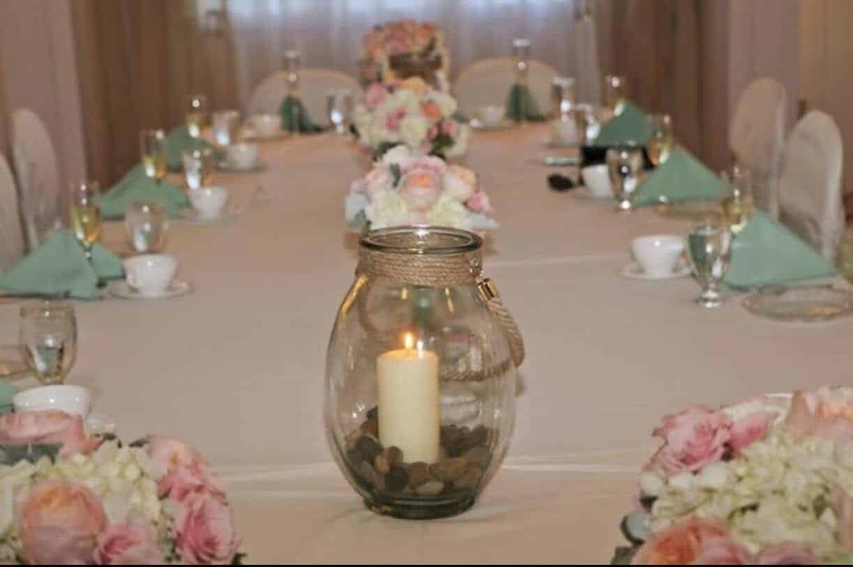 Glass Lantern Sand Painted Centerpieces Class with Jeanine Fyfe.